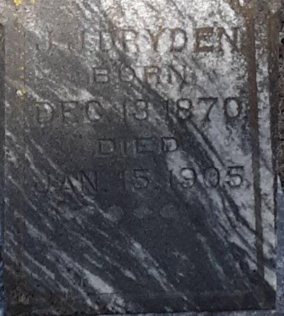 DRYDEN, J J (CLOSEUP) - Red River County, Texas | J J (CLOSEUP) DRYDEN - Texas Gravestone Photos