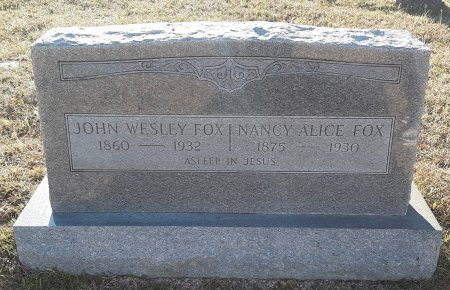 FOX, JOHN WESLEY - Red River County, Texas | JOHN WESLEY FOX - Texas Gravestone Photos