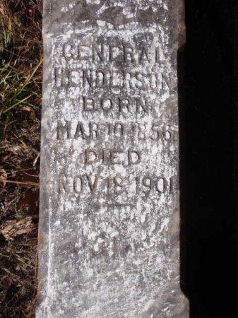 HENDERSON, GENERAL - Red River County, Texas   GENERAL HENDERSON - Texas Gravestone Photos