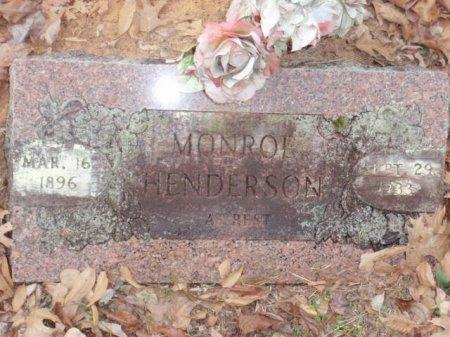 HENDERSON, MONROE - Red River County, Texas   MONROE HENDERSON - Texas Gravestone Photos