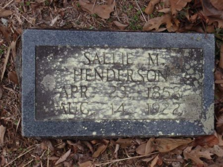 HENDERSON, SALLIE M - Red River County, Texas   SALLIE M HENDERSON - Texas Gravestone Photos