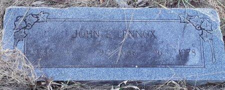 LENNOX, JOHN E - Red River County, Texas | JOHN E LENNOX - Texas Gravestone Photos