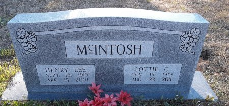 MCINTOSH, LOTTIE C - Red River County, Texas | LOTTIE C MCINTOSH - Texas Gravestone Photos
