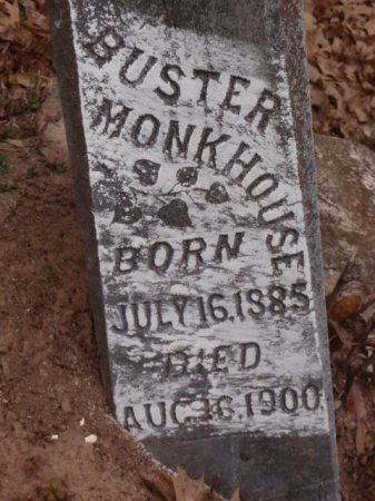 MONKHOUSE, BUSTER (CLOSEUP) - Red River County, Texas | BUSTER (CLOSEUP) MONKHOUSE - Texas Gravestone Photos