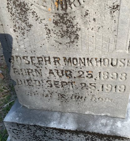 MONKHOUSE, JOSEPH R (CLOSE UP) - Red River County, Texas   JOSEPH R (CLOSE UP) MONKHOUSE - Texas Gravestone Photos