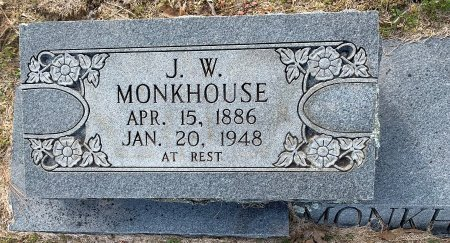 MONKHOUSE, J W (CLOSE UP) - Red River County, Texas   J W (CLOSE UP) MONKHOUSE - Texas Gravestone Photos