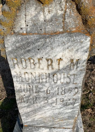 MONKHOUSE, ROBERT M (CLOSE UP) - Red River County, Texas | ROBERT M (CLOSE UP) MONKHOUSE - Texas Gravestone Photos