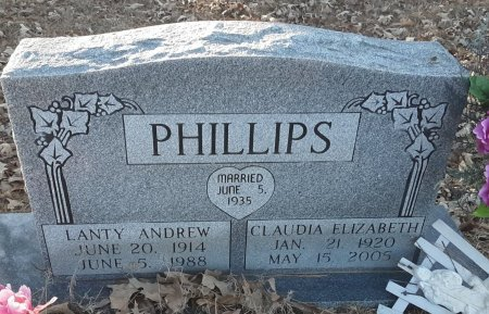 PHILLIPS, LANTY ANDREW - Red River County, Texas | LANTY ANDREW PHILLIPS - Texas Gravestone Photos