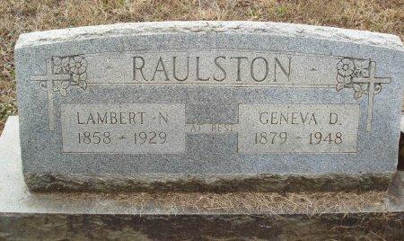 HENSHAW RAULSTON, GENEVA D - Red River County, Texas   GENEVA D HENSHAW RAULSTON - Texas Gravestone Photos
