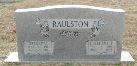 RAULSTON, OBENETTA - Red River County, Texas | OBENETTA RAULSTON - Texas Gravestone Photos