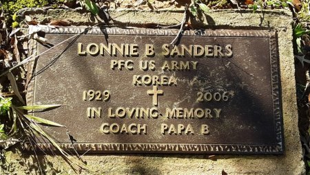SANDERS (VETERAN KOR), LONNIE B - Red River County, Texas | LONNIE B SANDERS (VETERAN KOR) - Texas Gravestone Photos