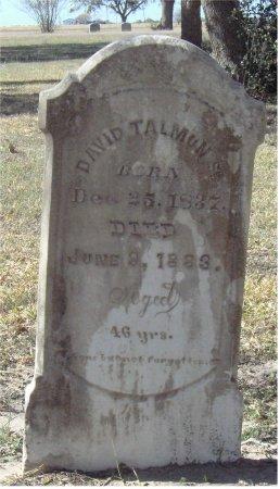 TALMAN, SR., DAVID - Refugio County, Texas | DAVID TALMAN, SR. - Texas Gravestone Photos
