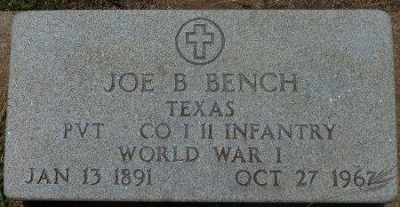 BENCH (VETERAN WWI), JOE B - Robertson County, Texas   JOE B BENCH (VETERAN WWI) - Texas Gravestone Photos