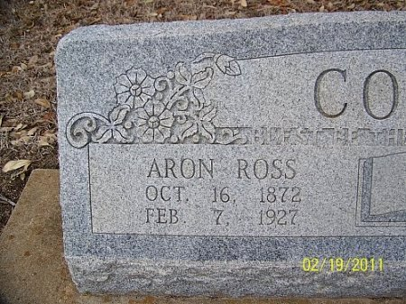 COUCH, AARON ROSS (CLOSEUP) - Robertson County, Texas | AARON ROSS (CLOSEUP) COUCH - Texas Gravestone Photos