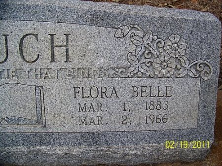 COUCH, FLORA BELLE (CLOSEUP) - Robertson County, Texas | FLORA BELLE (CLOSEUP) COUCH - Texas Gravestone Photos