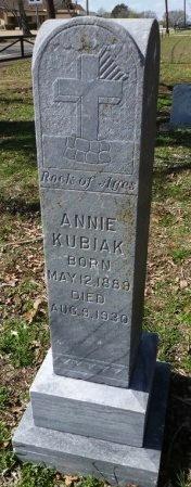 KUBIAK, ANNIE - Robertson County, Texas   ANNIE KUBIAK - Texas Gravestone Photos