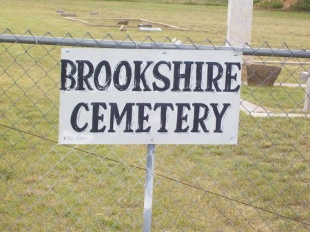 *BROOKSHIRE CEMETERY SIGN,  - Runnels County, Texas |  *BROOKSHIRE CEMETERY SIGN - Texas Gravestone Photos