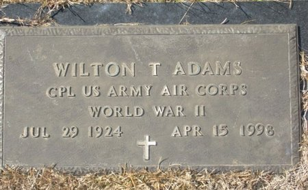 ADAMS (VETERAN WWII), WILTON T - Rusk County, Texas | WILTON T ADAMS (VETERAN WWII) - Texas Gravestone Photos