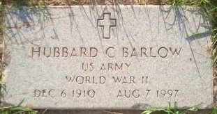 BARLOW (VETERAN WWII), HUBBARD COLUMBUS - Rusk County, Texas | HUBBARD COLUMBUS BARLOW (VETERAN WWII) - Texas Gravestone Photos
