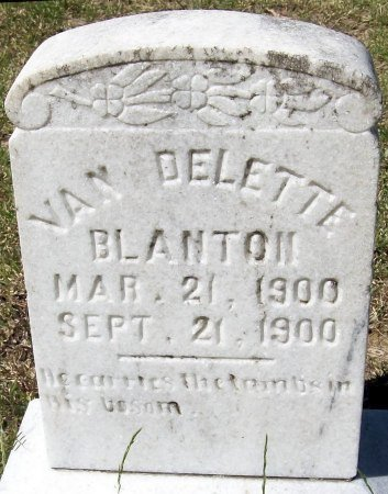 BLANTON, VAN DELETTE - Rusk County, Texas   VAN DELETTE BLANTON - Texas Gravestone Photos