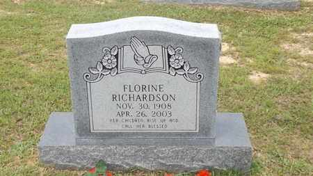 RICHARDSON, FLORINE - Rusk County, Texas | FLORINE RICHARDSON - Texas Gravestone Photos