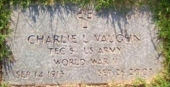 VAUGHN (VETERAN WWII), CHARLIE LEROY - Rusk County, Texas | CHARLIE LEROY VAUGHN (VETERAN WWII) - Texas Gravestone Photos