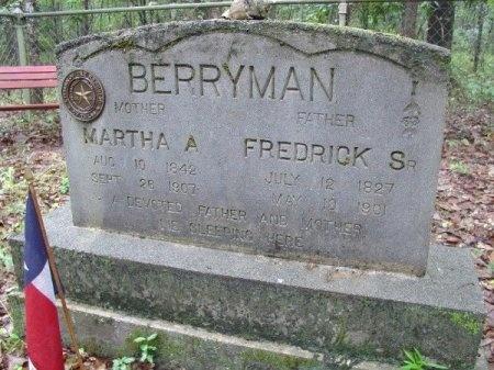 BERRYMAN, SR., FREDRICK - Sabine County, Texas | FREDRICK BERRYMAN, SR. - Texas Gravestone Photos