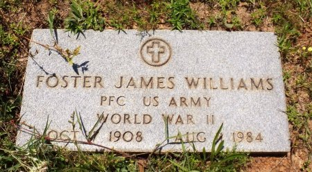 WILLIAMS (VETERAN WWII), FOSTER JAMES - San Jacinto County, Texas | FOSTER JAMES WILLIAMS (VETERAN WWII) - Texas Gravestone Photos