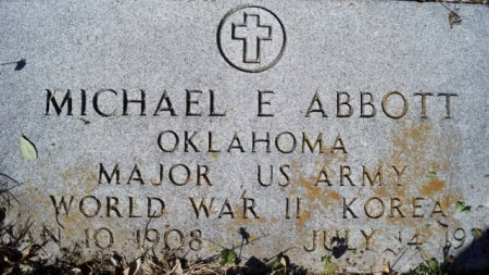 ABBOTT (VETERAN 2 WARS), MICHAEL E - San Patricio County, Texas | MICHAEL E ABBOTT (VETERAN 2 WARS) - Texas Gravestone Photos