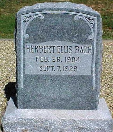 BAZE, HERBERT ELLIS - Scurry County, Texas | HERBERT ELLIS BAZE - Texas Gravestone Photos