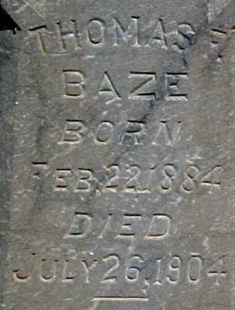 BAZE, THOMAS FRANKLIN (CLOSE UP) - Scurry County, Texas   THOMAS FRANKLIN (CLOSE UP) BAZE - Texas Gravestone Photos