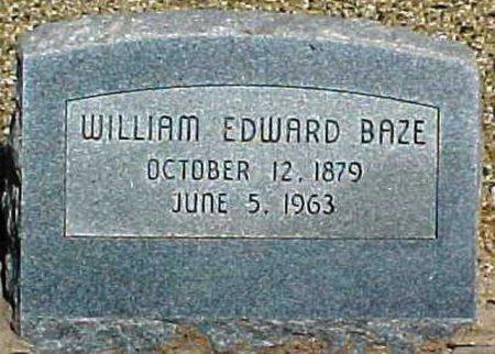 BAZE, WILLIAM EDWARD - Scurry County, Texas | WILLIAM EDWARD BAZE - Texas Gravestone Photos