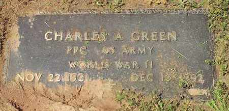 GREEN (VETERAN WWII), CHARLES A - Shelby County, Texas   CHARLES A GREEN (VETERAN WWII) - Texas Gravestone Photos