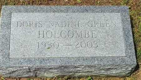 GREEN HOLCOMBE, DORIS NADINE - Shelby County, Texas   DORIS NADINE GREEN HOLCOMBE - Texas Gravestone Photos