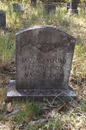 RAYFORD, LEOTA - Smith County, Texas | LEOTA RAYFORD - Texas Gravestone Photos