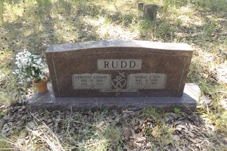 RUDD, CHRISTINE - Smith County, Texas | CHRISTINE RUDD - Texas Gravestone Photos