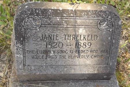THRELKELD, JANIE - Smith County, Texas | JANIE THRELKELD - Texas Gravestone Photos
