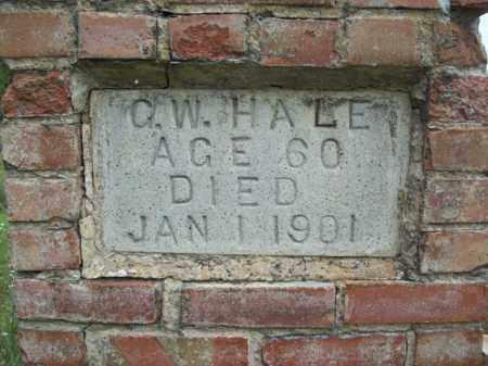 HALE, GEORGE WASHINGTON (CLOSE UP) - Somervell County, Texas | GEORGE WASHINGTON (CLOSE UP) HALE - Texas Gravestone Photos