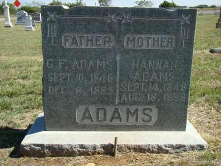 CLEVENGER ADAMS, HANNAH - Stephens County, Texas | HANNAH CLEVENGER ADAMS - Texas Gravestone Photos