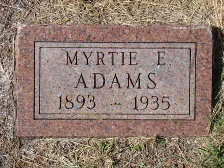 MCNABB ADAMS, MYRTIE E - Stephens County, Texas | MYRTIE E MCNABB ADAMS - Texas Gravestone Photos