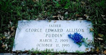 ALLISON, GEORGE EDWARD - Sutton County, Texas | GEORGE EDWARD ALLISON - Texas Gravestone Photos