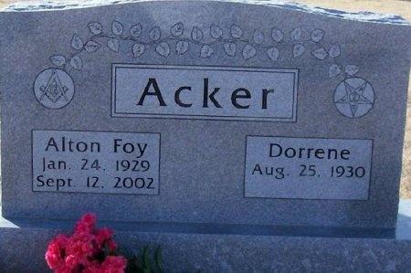 ACKER, ALTON FOY - Swisher County, Texas | ALTON FOY ACKER - Texas Gravestone Photos