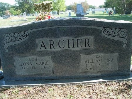 ARCHER, WILLIAM IRA - Tarrant County, Texas | WILLIAM IRA ARCHER - Texas Gravestone Photos