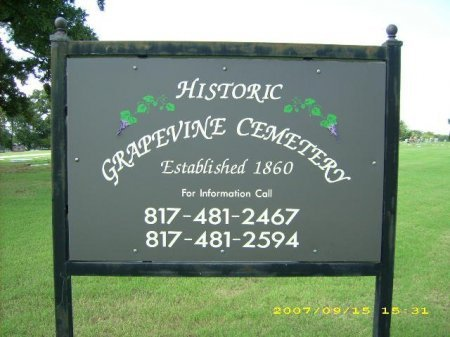 *CEMETERY SIGN,  - Tarrant County, Texas |  *CEMETERY SIGN - Texas Gravestone Photos