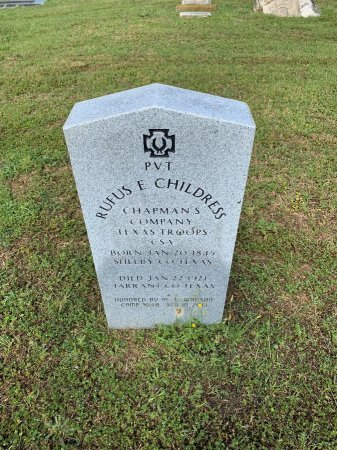 CHILDRESS (VETERAN CSA), RUFUS - Tarrant County, Texas | RUFUS CHILDRESS (VETERAN CSA) - Texas Gravestone Photos