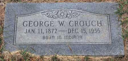 CROUCH, GEORGE W - Tarrant County, Texas   GEORGE W CROUCH - Texas Gravestone Photos