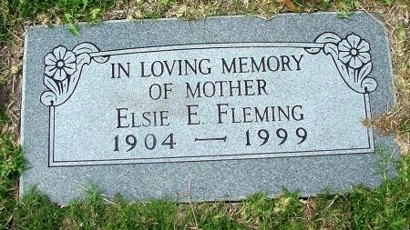 FLEMING, ELSIE E. - Tarrant County, Texas   ELSIE E. FLEMING - Texas Gravestone Photos