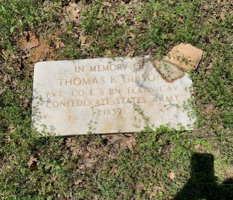 GIBSON (VETERAN CSA), THOMAS R. - Tarrant County, Texas | THOMAS R. GIBSON (VETERAN CSA) - Texas Gravestone Photos