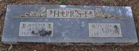 HURST, ALICE - Tarrant County, Texas | ALICE HURST - Texas Gravestone Photos
