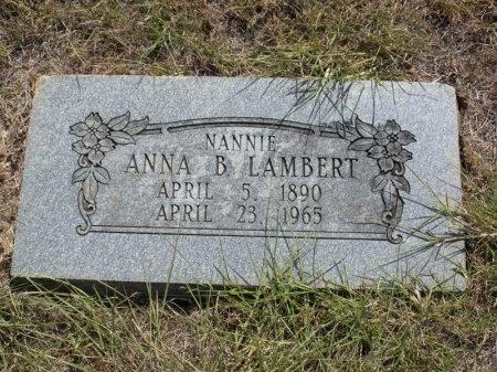 LAMBERT, ANNA BELLE - Tarrant County, Texas   ANNA BELLE LAMBERT - Texas Gravestone Photos